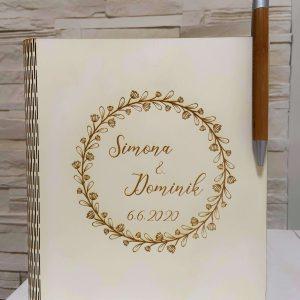 Spomienková svadobná kniha na podpisy, odkazy od hostí