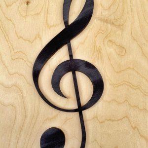 Drevený huslový kľúč