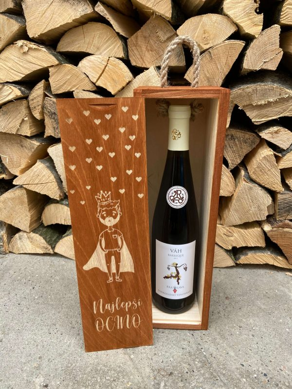Drevená krabica na víno pre najlšpšieho ocina